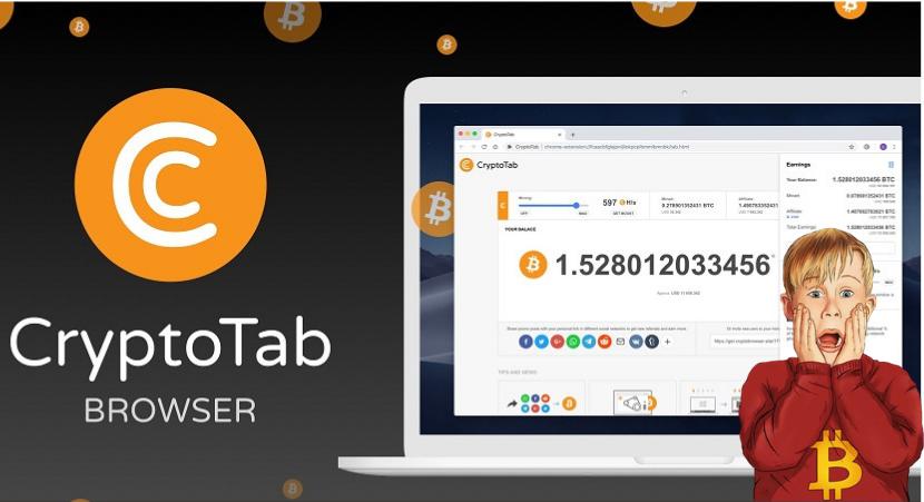 CryptoTab Майнинг криптовалюты Биткоин через браузер