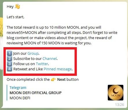 Как принять участие в аирдропе MoonDeFi?