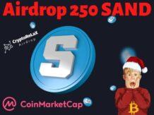 Аирдроп The Sandbox SAND на CoinMarketCap