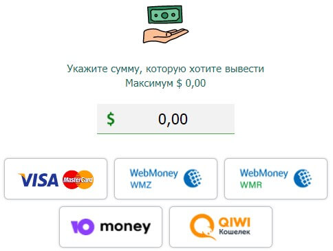 visa master card webmoney qiwi