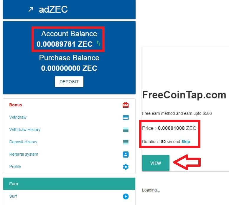 серфинг сайтов adzec.cc