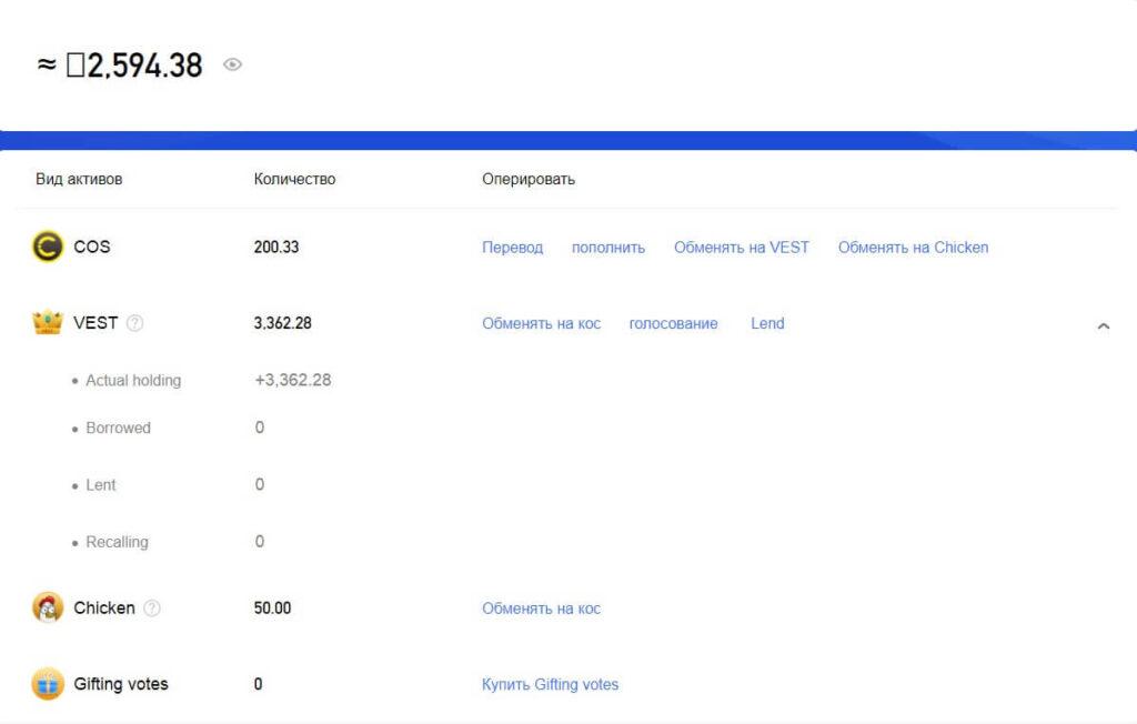 статистика аккаунта cos.tv
