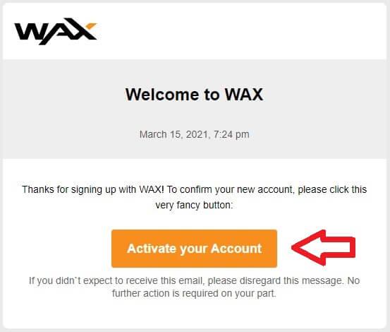 активация wax кошелька