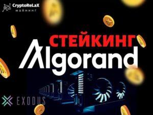 Стейкинг криптовалюты Algorand в Exodus