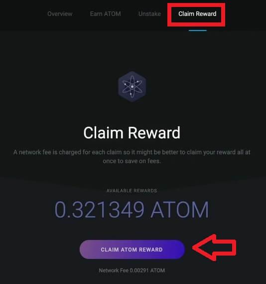 claim cosmos atom