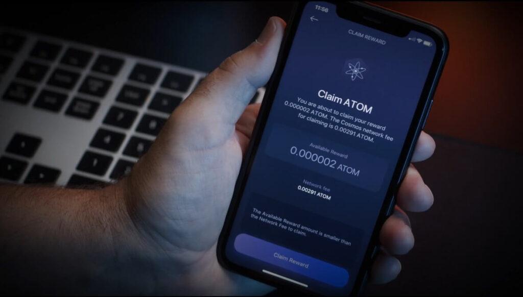 claim cosmos atom mobile app exodus
