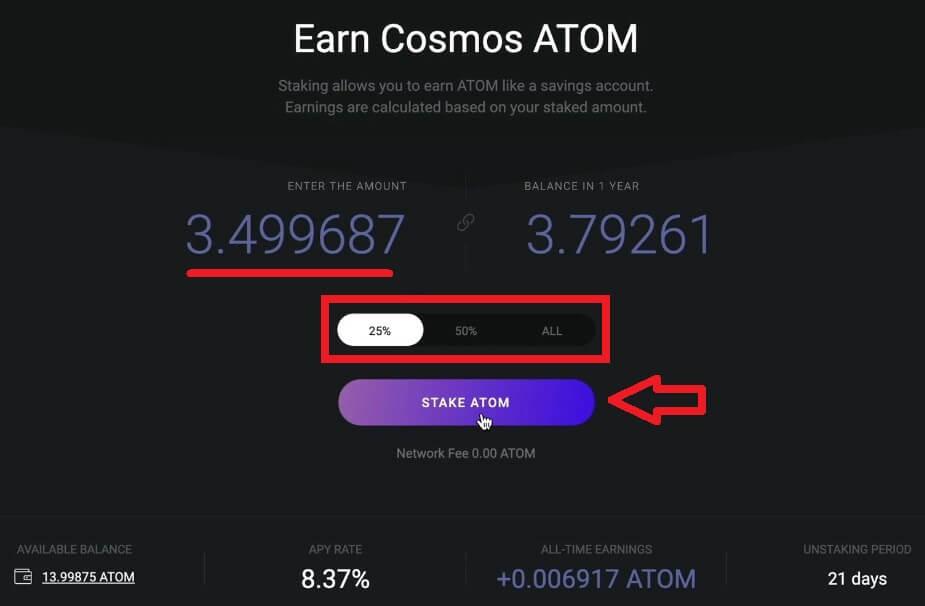 stake cosmos atom exodus