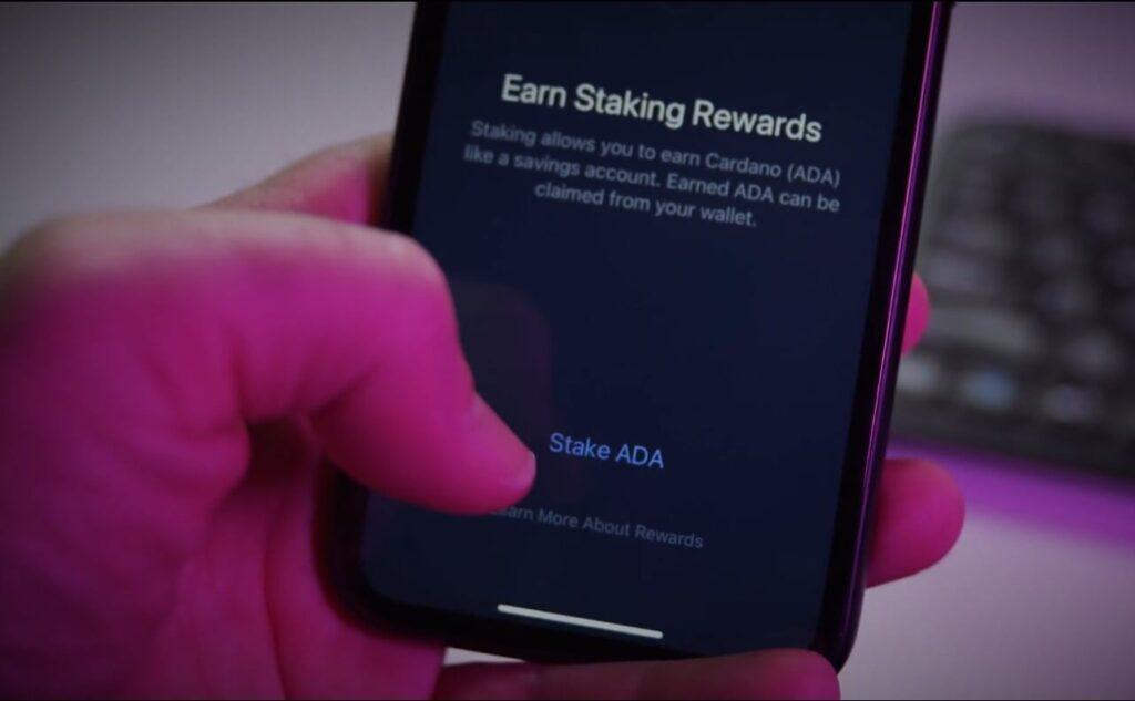 Стейкинг Cardano ADA в мобильной версии Exodus