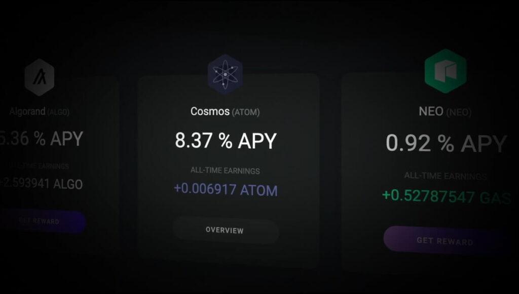 Стейкинг Cosmos ATOM в десктопной версии Exodus